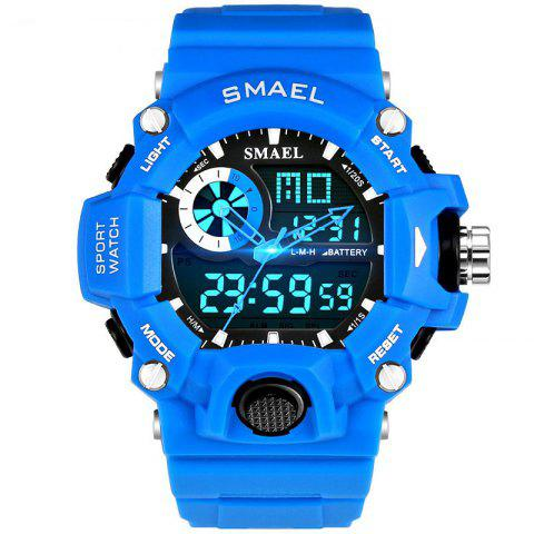 SMAEL 1385 Men's Multifunction Outdoor Mountaineering LED Watch With Box - SKY BLUE