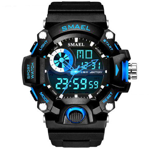 SMAEL 1385 Men's Multifunction Outdoor Mountaineering LED Watch With Box - BLUE