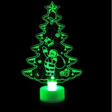 Colorful Glowing Acrylic Christmas Night Lights Christmas Small Gifts Decorations - multicolor A