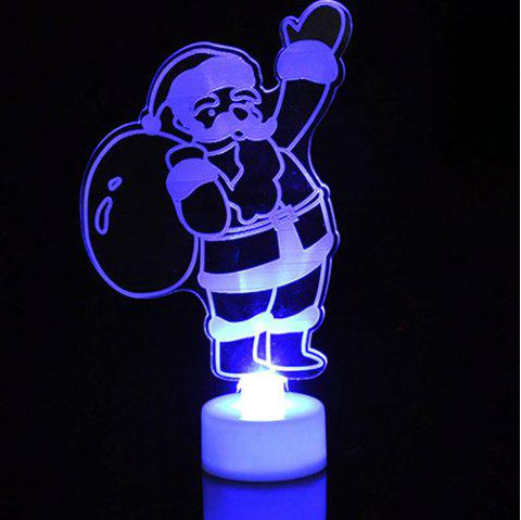 Colorful Glowing Acrylic Christmas Night Lights Christmas Small Gifts Decorations - multicolor B