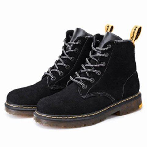 Uleemark High-top Leather Boots from Xiaomi Youpin - BLACK EU 44