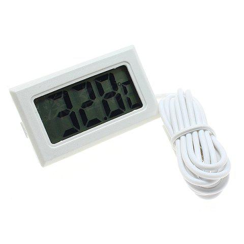 Waterproof Probe Electronic Counting Digital Thermometer for Fish Tank / Refrigerator - WHITE