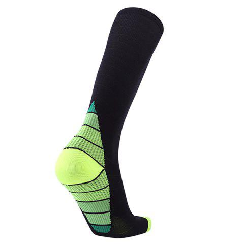 Pressure Compression Straining Adult Running Football Socks - CHARTREUSE
