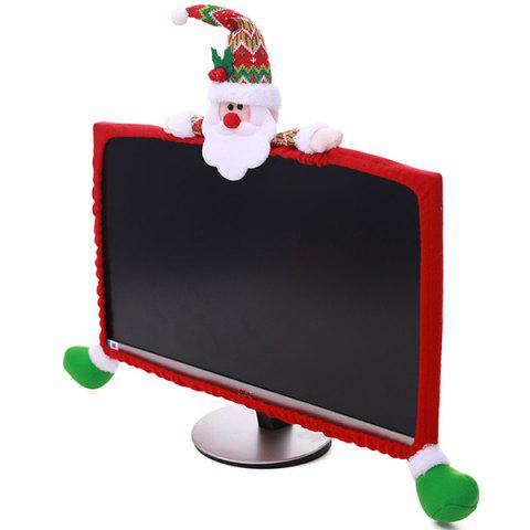 Christmas Display Border Elastic Computer Display Cover 19 inch - 27 inch - multicolor A