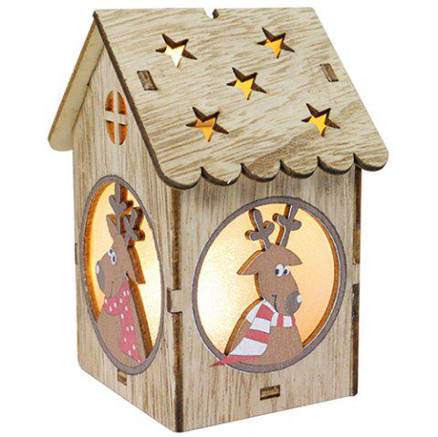 Creative Wooden Lighting Small House Gift Christmas Day Decoration - WOOD ELK