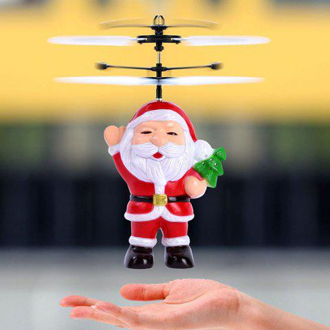 Christmas Santa Claus Suspension Helicopter Toy Gift for Children - RED