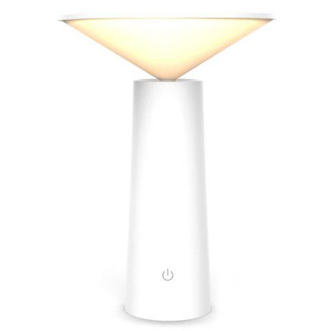 Creative Simple European Style LED Learning Eye Protecting Touch USB Table Lamp - WHITE