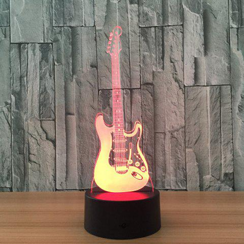 Musique Guitare Fashion 3D Night Touch coloré Visual Stereo Light - Noir