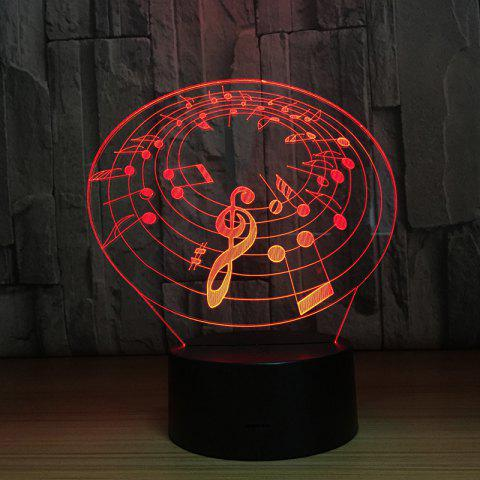 Fashion Music 3D Night Colorful Touch Visual Stereo Light - BLACK
