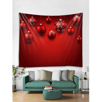 dc286b02b6f  17% OFF  2019 Christmas Snowflake Ball Pattern Tapestry Art Decoration In RED  W91 X L71 INCH