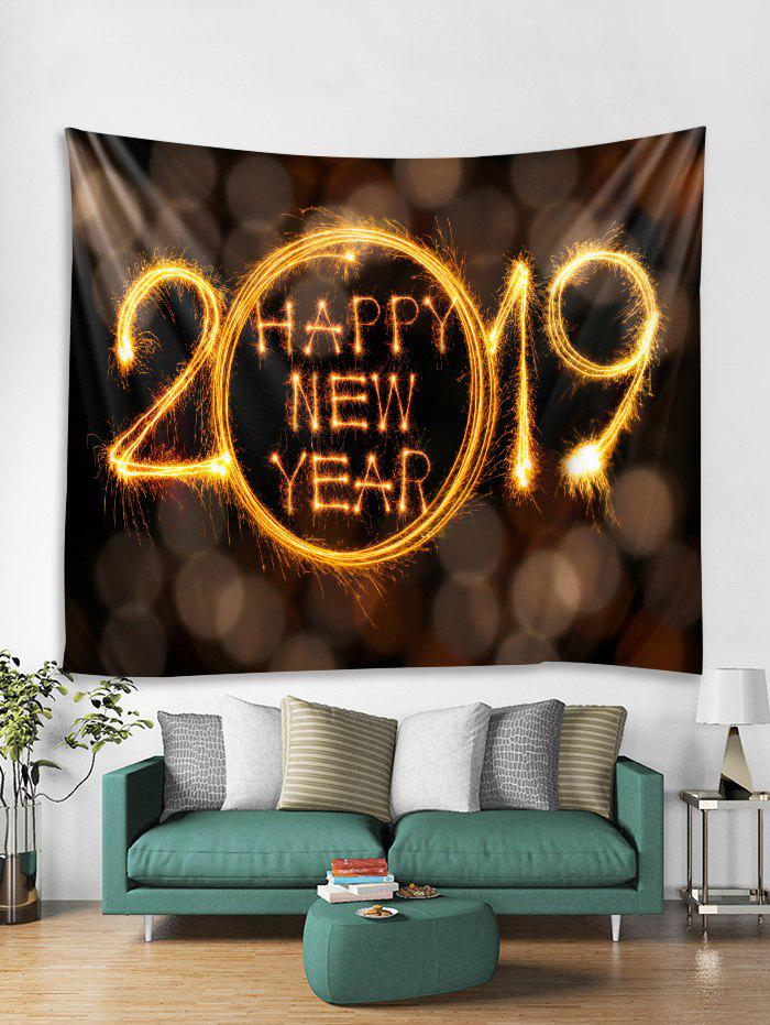 Happy New Year Print Tapestry Wall Hanging Decoration