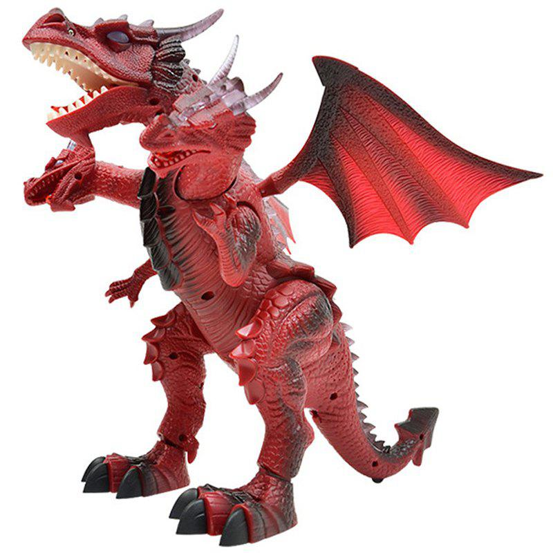 BCP Remote Control Walking Dinosaur with Lights / Sounds - RED