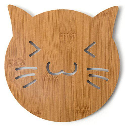 Wooden Cute Creative Hollow Wooden Coasters - 001