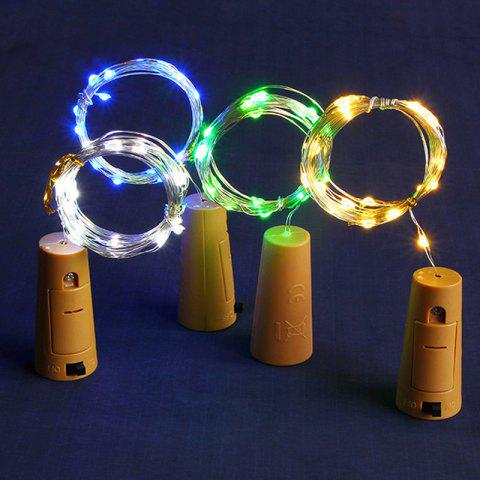 Led Wine Bottle Plug Copper Wire Indoor Decoration Lanterns Christmas Day String Lights - WHITE