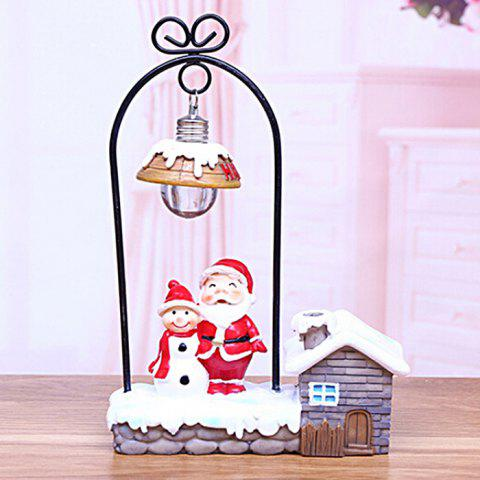 Christmas Gift Santa Snowman Christmas Bear Decoration Creative Night Light - WHITE B