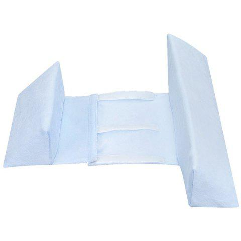 Removable Washable Shaped Baby Side Sleeping Pillow - LIGHT BLUE