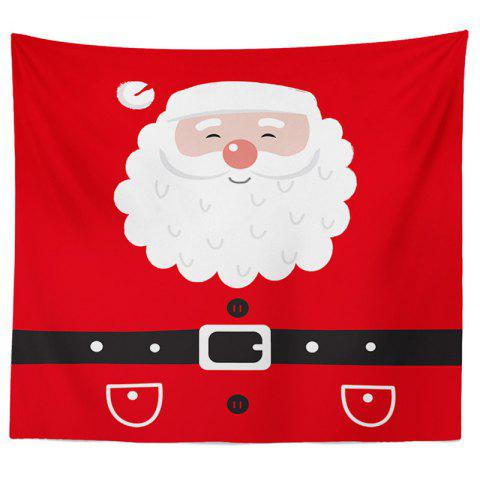 Decorative Tapestry Christmas Series TV Background Wall Landscape Polyester Cloth Lanyard - RED 2