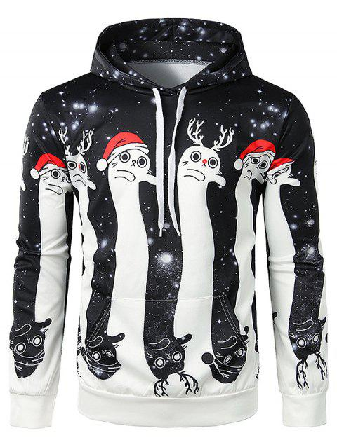 cabaa3b73f28 17% OFF  2019 Christmas 3D Hooded Long-sleeved Men s Casual Hoodie ...