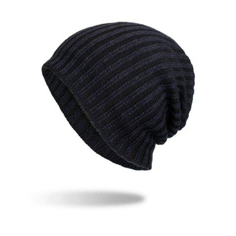Autumn and Winter Knitted Wool Hedging Cap - BLACK
