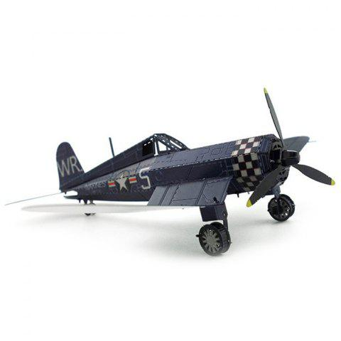 DIY Hand-assembled Pirate Fixed-wing Fighter Model Ornaments - LAPIS BLUE