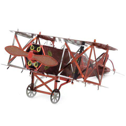 DIY Hand-assembled Double Fixed-wing Aircraft Model Ornaments - CHERRY RED