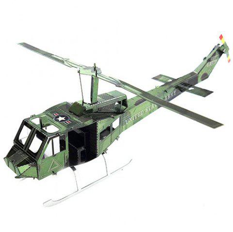 DIY Hand-assembled Helicopter Model Ornaments - multicolor A