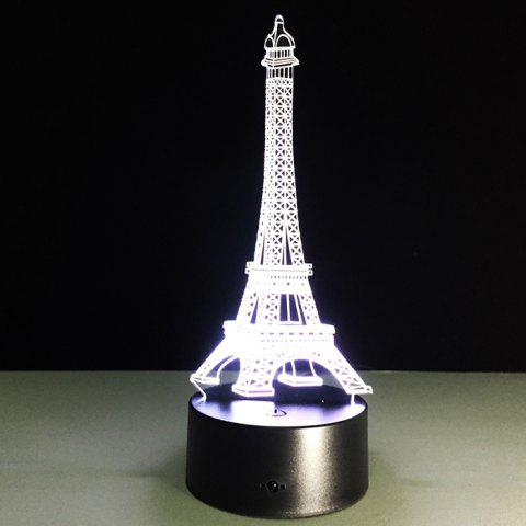 Eiffel Tower Lights Creative Gifts Colorful LED Sensor Lamp with Remote Control - BLACK
