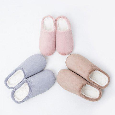 One Cloud Pantoufles Pantoufles Chaudes de Loisirs Confortables de Xiaomi You Pin - Rose 39-40