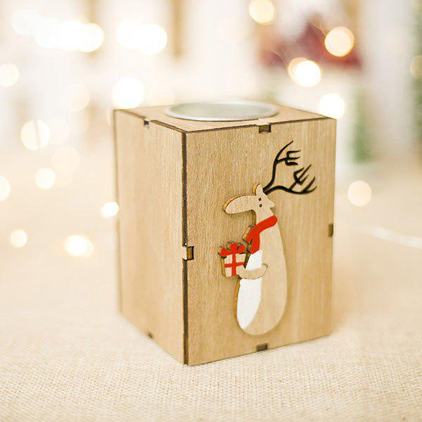 Creative Christmas Decorations Wooden Candlestick Ornament