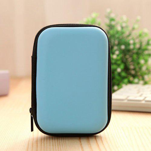 Travel Mobile Phone / Data Cable Storage Bag - DEEP SKY BLUE