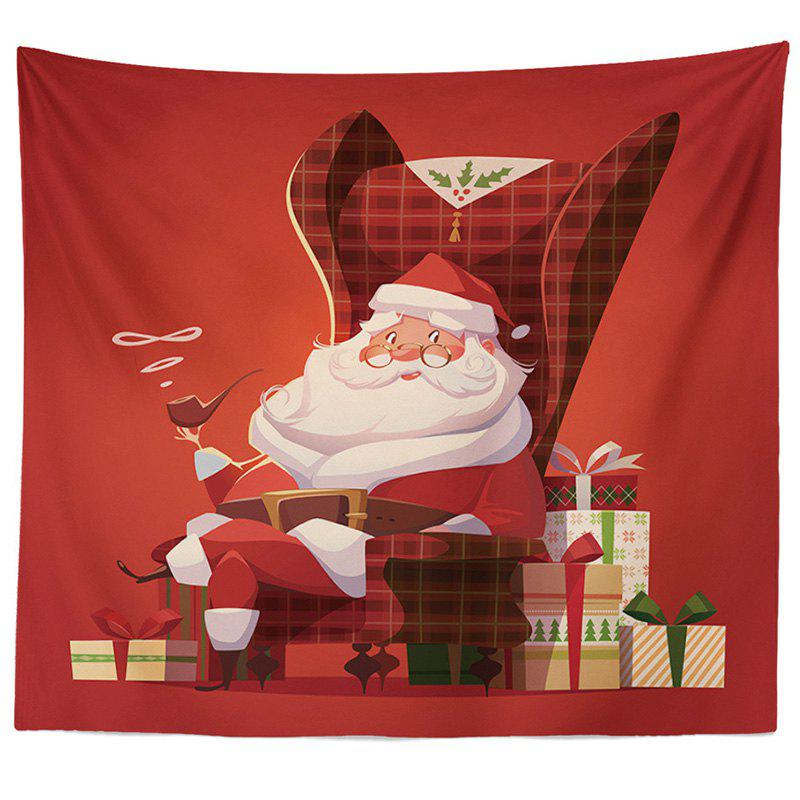 Decorative Tapestry Christmas Series TV Background Wall Landscape Polyester Cloth Lanyard - RED 3