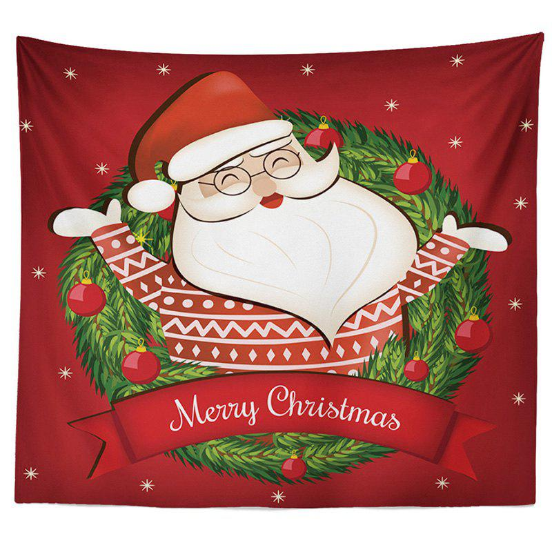 Decorative Tapestry Christmas Series TV Background Wall Landscape Polyester Cloth Lanyard - RED 1