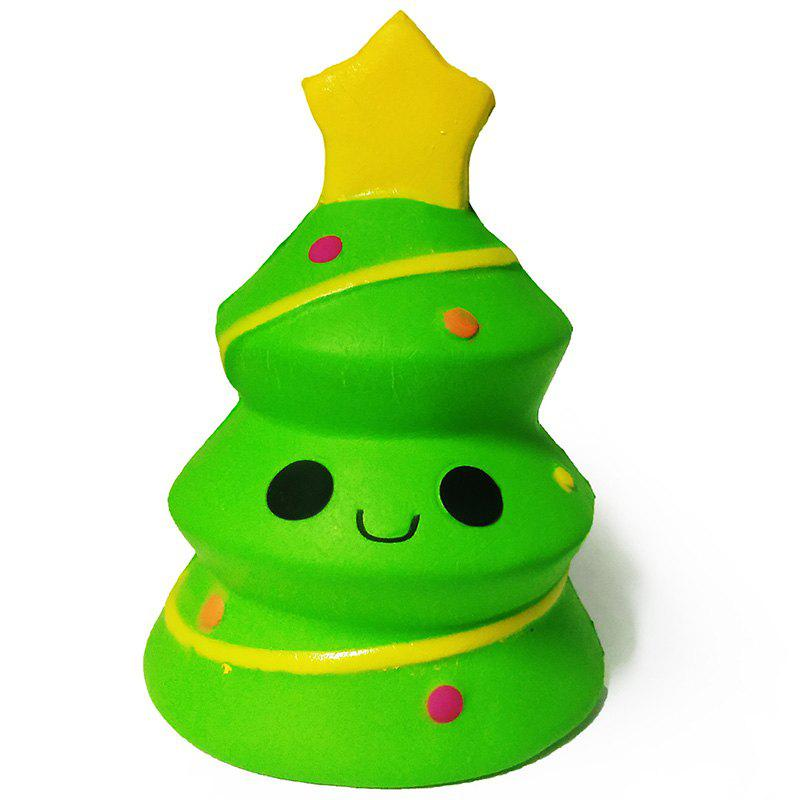 Slow Rebound Squishy Christmas Tree Squeeze Vent Toy Decorative Ornaments - YELLOW GREEN