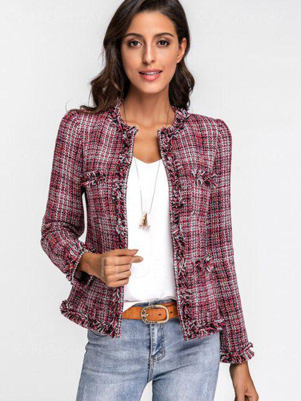 17% OFF] 2020 Manteau Court Elégant en Tweed d'Automne