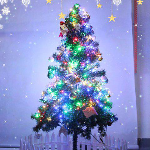 Festival Party  LED Silver Line 10m 100 Christmas Decoration Lights String AA Battery - multicolor A