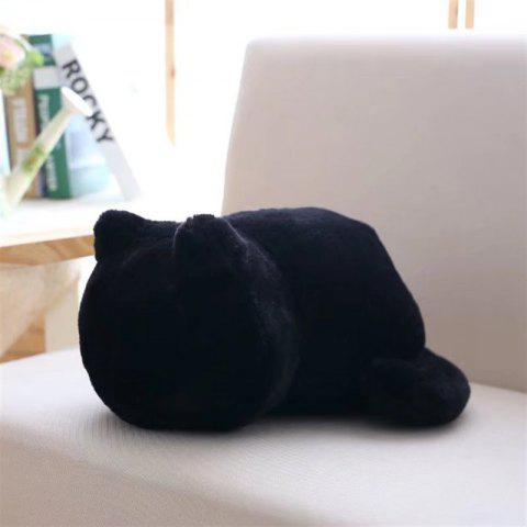Cute Fat Back Cat Pillow Doll - BLACK