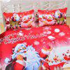 Christmas Series Quilt Home Textile Kit Bedding 3pcs - RED KING