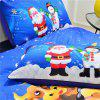 Christmas Series Quilt Home Textile Kit Bedding Three-piece Cool Pattern Couple Kit - BLUE QUEEN