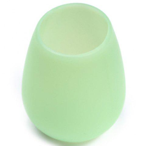 Stylish Silicone Red Wine Glass Silicone Water Cup - MINT GREEN