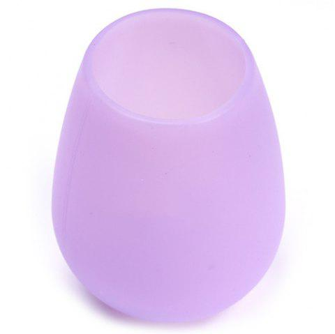 Stylish Silicone Red Wine Glass Silicone Water Cup - MAUVE