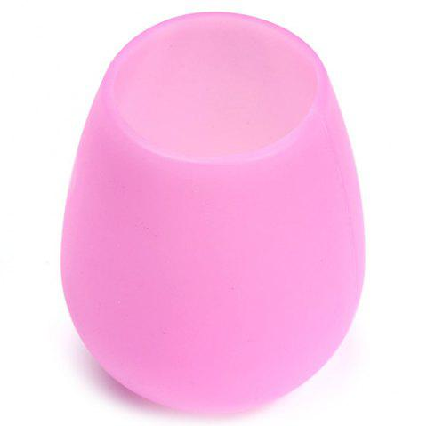 Stylish Silicone Red Wine Glass Silicone Water Cup - BLUSH PINK