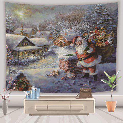 Christmas Tapestry Hanging Cloth Background Decoration 130cm x 150cm - multicolor A 1