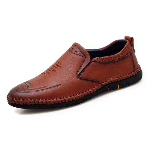 Men Leisure Comfortable Flat Shoes - DEEP COFFEE EU 43