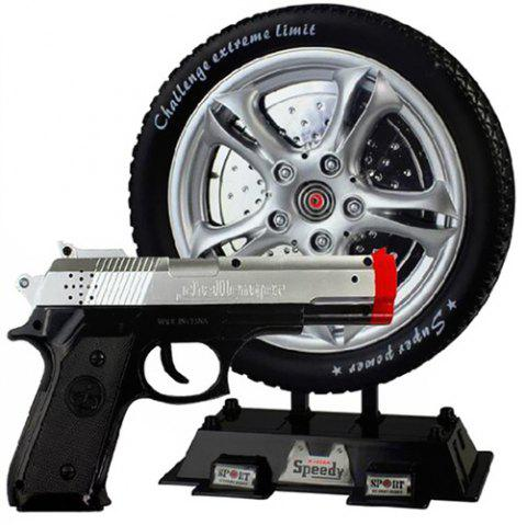 Electric Music Infrared Shooting Laser Induction Target Tire Training Game Pistol Toy - BLACK