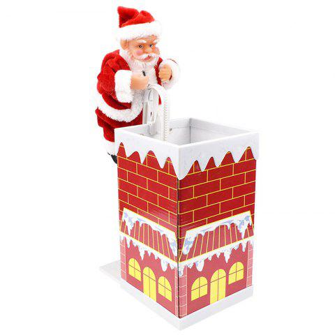 Santa Doll with Music Electric Toy Christmas Gifts - RED