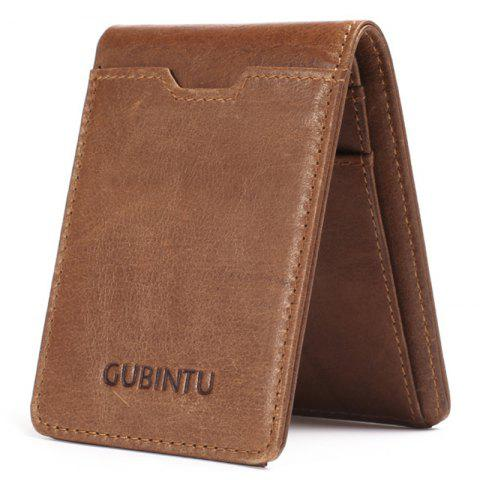 JINBAOLAI Creative Wallet Card Package Anti-magnetic Multifunctional - CAMEL BROWN