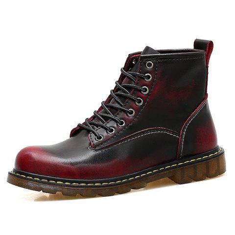 Men High Top Large Size Boots - RED EU 47