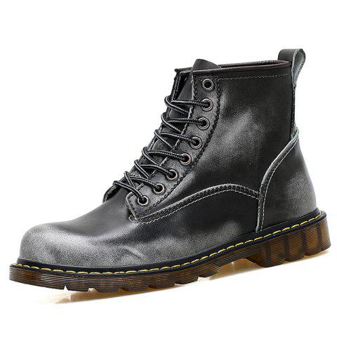 Men High Top Large Size Boots - GRAY EU 47