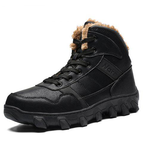 Men Warm Comfortable Boots Anti-slip - BLACK EU 42