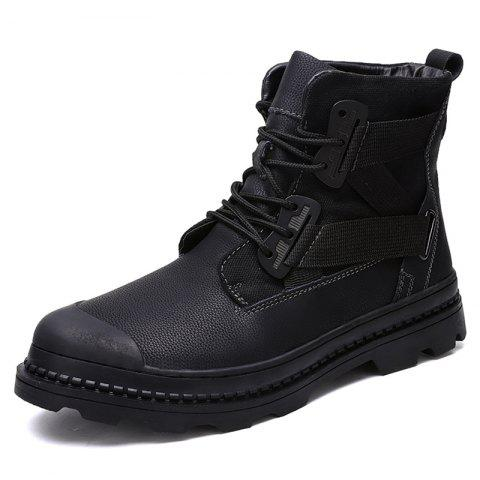 Leisure Simple Men's Boots - BLACK EU 47